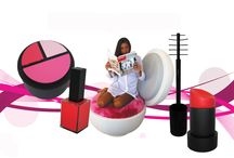 """""""MakeUp Now!"""" collection / """"MakeUp Now!"""" is an original and vibrant collection of five furniture which drawn their inspiration from women make up. The collection is playful and pop, an amusing homage to women who ironically take their femininity and everyday life. The exclusive series consists of: Rossetto [Lipstick] stool 