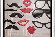 mustache&mouth&stics&party / #fotobudka #wasy #zdjecia #gadzety #for_sale