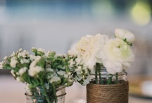 Small glass jars for flowers