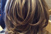 cabello corto y c.  mechas