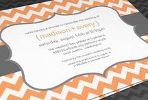 Bridal shower invitations and wedding cards