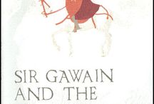 """Gawain & the Green Knight / The artist Clive Hicks-Jenkins and Daniel Bugg of the Penfold Press have begun a long-term project to produce a series of 14 editioned prints on the medieval poem """"Sir Gawain and the Green Knight"""", one of the jewels in the crown of British poetry. Clive Hicks-Jenkins has been exploring the subject in paintings and drawings since reading the Simon Armitage translation of Gawain published in 2007. The project was initiated by Sarah Parvin of The Curious One."""