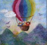 Wol-schilderijen Allerlei / 'Schilderijen' van sprookjeswol, prachtige landschappen en andere afbeeldingen