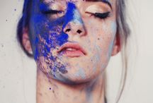 Paint on the face