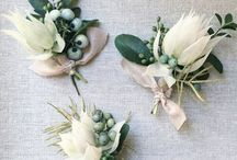 Boutonnieres + Corsages + Buttonholes / Boutonnieres, corsages and buttonholes. Inspiration for your natural, rocky mountain wedding.