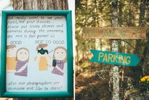 Wedding Signs  / Tell your wedding guests what to do and where to go in a fun and cute way!