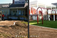 Before & After / Before & After photos of Global Syn-Turf installations