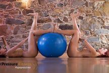 Hypopressive low pressure fitness - materials / Hypopressive exercises with materials (TRX) , fitball etc