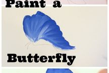 ako kresliť motýla