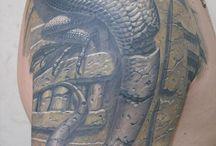 Draon tail tattoo