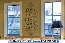 Wall Decal / Scripture  / by Lupe Binoeder