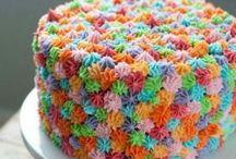 torta en arco iris