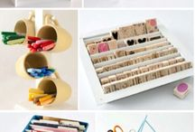 Addicted To Organizing / Inspiration to organize your craft supplies and space!