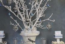 winter white wonderland center pieces