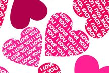 Message In Pink Hearts / .
