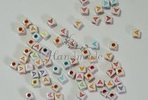 Margele litere / Letters beads / Margelute cu diverse litere / Letters engraved beads