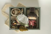 Felted creations / Adorable mini woodsie creatures