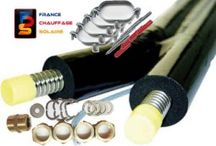 Composants énergie solaire thermique / Tube inox solaire, vase d'expansion,vanne 3 voies, régulateur électronique solaire thermique