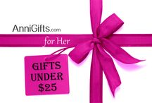 Gifts Under $25 for HER / Find a great selection of gifts under $25 at AnniGifts.com. Shop online for affordable personalized gifts for women including jewelry, key chains, mugs & more.  No extra cost for engraving -- it's included!