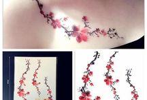 fleur japonaise tatoo