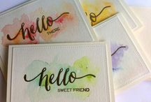 Cards: watercolor