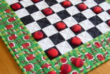 Checkerboards to Check Out / Quilted checkerboard games in the Whimzie Quiltz Etsy store https://www.etsy.com/shop/whimziequiltz?section_id=7616322