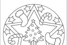 Weihnachten malen und basteln