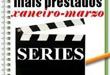 Máis prestados SERIES INVERNO 2014 / Os máis prestados de SERIES na Biblioteca Ánxel Casal XANEIRO_MARZO 2014
