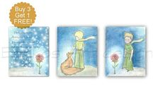 Little Prince Nursery, Baby Boy Nursery / Art for children, Nursery Wall Art, Baby Nursery Art,  Check out my shop: http://www.etsy.com/shop/handpainting?ref=si_shop