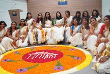 "We enjoyed Onam Celebration :) / ""We celebrate Onam to commemorate a glorious past. All of us yearn for a time like that of King Mahabali, a time when prosperity, joy and love blended. But in order to realize this dream we need to put forward creative and sustained effort. And this is our small effort for that...."