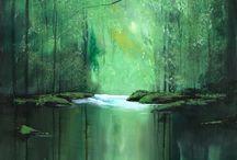 Зелёный пейзаж