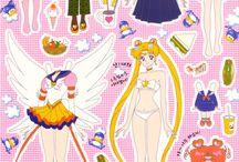 Paper Doll - Sailor Moon / http://www.rushita.com/sm/dolls.html