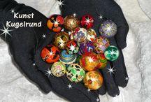 KUNST KUGELRUND / Ausgefallener Modeschmuck aus handbemalten Holzkugeln. Jede für sich einzigartig, auffallend oder dezent...