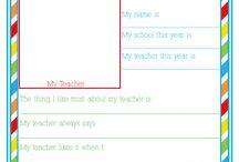 Teacher printables