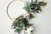 Embroidery Hoop Wreaths / Beautiful hoop wreaths. Home decor. DIY.