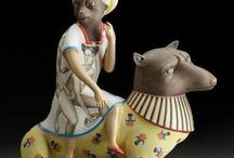 Sergei Isupov / Sergei Isupov surreal contemporary figurative sculptural figures ceramics Russian artist