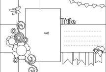 Scrapbook page ideas / Scrap layouts