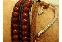 ARM008 / Looks with our Wrap Bracelet Red Stones