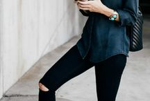 Dark denim