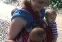 TANDEM / TWIN BABYWEARING / Tandem (Twin) baby wearing is when one person carries two children hands-free.