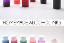 Pinturas al alcohol caseras