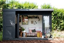 Tea Shed Transformation / We challenged the talented stylist & photographer, Jeska, from Lobster & Swan to transform our Contemporary Wooden Summerhouse into a garden retreat. This Tea Shed or 'G&T Shed' is the ultimate, relaxing garden room.