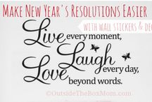 New Year's Resolutions / Resolutions for moms, ways to be successful, and best resources.