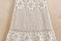 falda tejida crochet