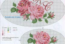 Güller kanaviçe