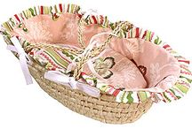 Doll Beds/ Doll Baskets / How cute!  The perfect place for a doll to rest.  Add the doll's monogram too.