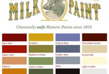 Milk Paint - True to the Old Colors / Primitives and other furniture have a warm, rich wonderful paint finish.  The finish on two pieces old pieces is never the same.  Milk Paint gives that authentic finish in old world colors unlike anything else you can use.