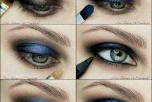 Maquillaje tonos azules