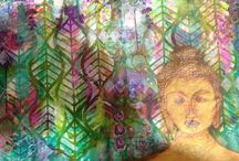 Playing with peaceful intent / My quiet time art journaling