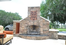 Outdoor Kitchen Ideas and Outdoor Living Ideas K+B Builders Inc. / Outdoor Kitchen ideas, outdoor fireplace ideas, fire pit ideas, wrought Iron Gate ideas and more.  K+B Builders Inc. Tampa - Clearwater Florida